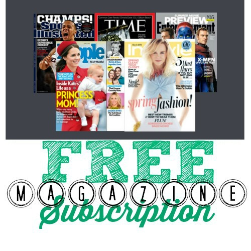 magazines4 FREE Magazine Subscriptions  Sports Illustrated, People, InStyle, TIME, and More!