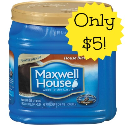 maxwell house coffee HOT! Maxwell House Coffee 30.6 oz. Only $5 at Dollar General!