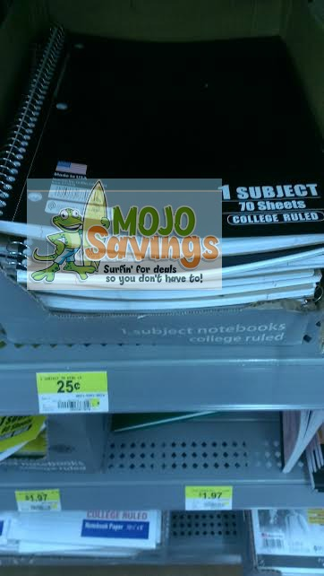 notebookswalmart Back to School: 1 Subject Notebooks Only $.25 Each at Walmart!