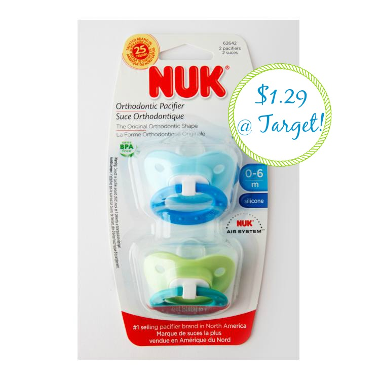 nuk NUK Pacifiers 2pk Only $1.29 at Target!
