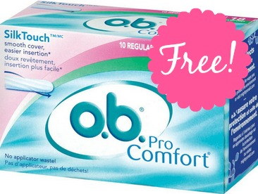 o.b. HOT! Free o.b. Tampons at Rite Aid!