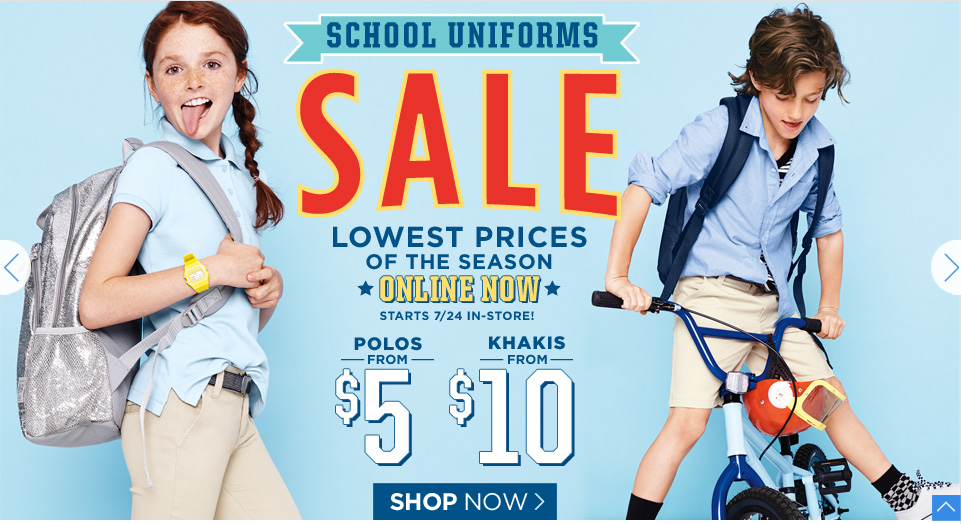 oldnavy2 Old Navy: School Uniform Sale Polos Only $5.00!