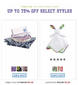 online Vera Bradley Outlet Store Sale, Up to 75% Off Retail Prices!
