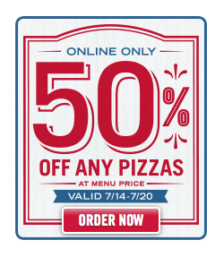 pizza Dominos: Save 50% Off Regularly Prized Pizza Online!