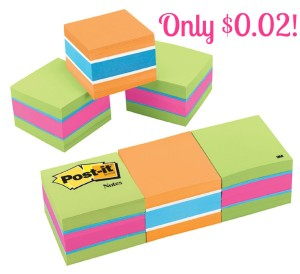 postit 300x274 HOT! Post it Notes Only $0.02 at Target!