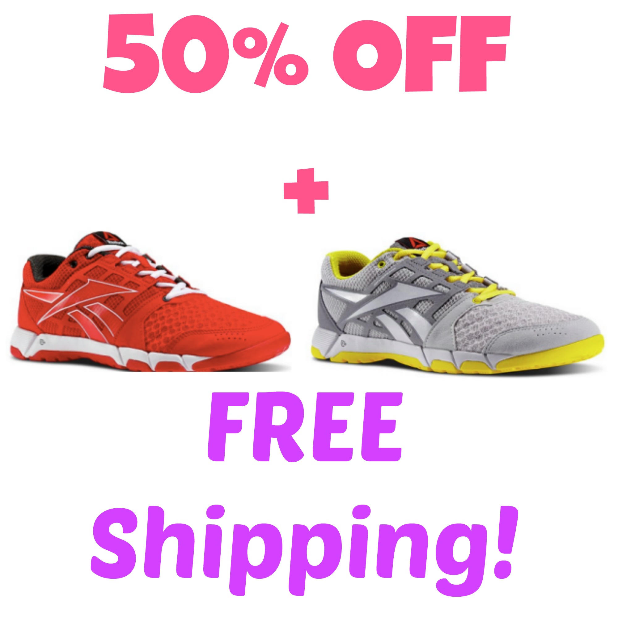 Free Shipping Today: HOT! Reebok Outlet: Extra 50% Off Everything + FREE