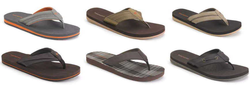 sandles Kohls: Dockers Flip Flops for Men, Union Bay and Kid's Backpacks   Starting at $10.49!