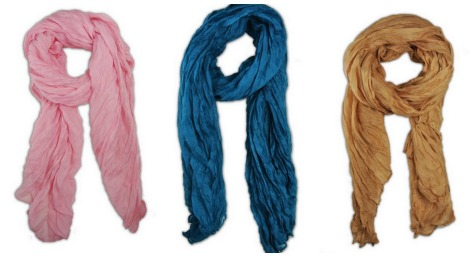 scarf collage Long Crinkle Scarf only $4.99 shipped!