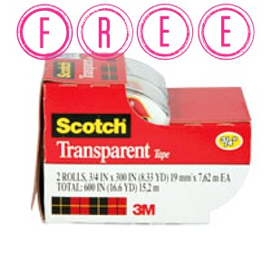 scotch HOT! FREE Scotch Tape 2 Pack at Target!