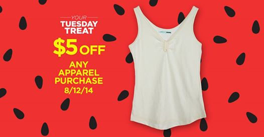 searsoutlet HOT! FREE $5 Off Any Apparel Purchase from Sears Outlet! TODAY ONLY!