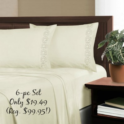 sheets Dream Home Double Brushed Microfiber 6pc Sheet Set Only $19.49! (Reg. $99.95!)