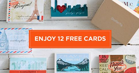 shutterfly HOT! Shutterfly  12 Free Cards (Flat or Folded) or a Mix & Match Set! (Up to $24.99 Value!)