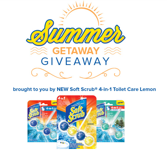 softscrub FREE Soft Scrub 4 in 1 Toilet Care Giveaway! Win a Getaway for Two!