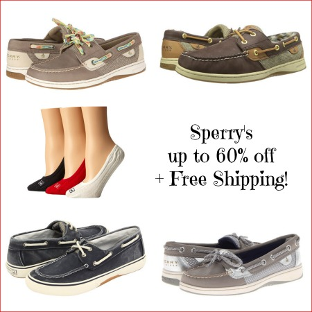 sperry collage Sperry Top Siders up to 60% off + Free Shipping!
