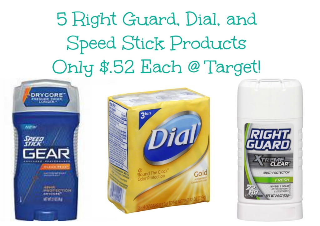 target deals 1024x725 HOT! Dial, Right Guard, and Speed Stick Products Only $.52 Each at Target!
