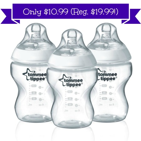 tommeetippee Tommee Tippee Bottle, 9 Ounce, 3 Count Only $10.99 (Reg. $19.99!)