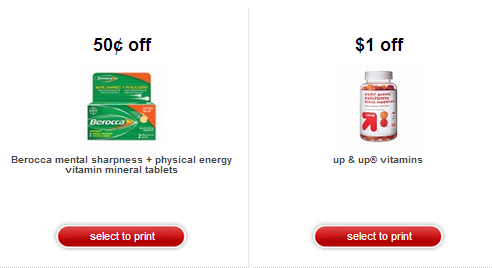 vitamin Hot! New Target Printable Coupons!