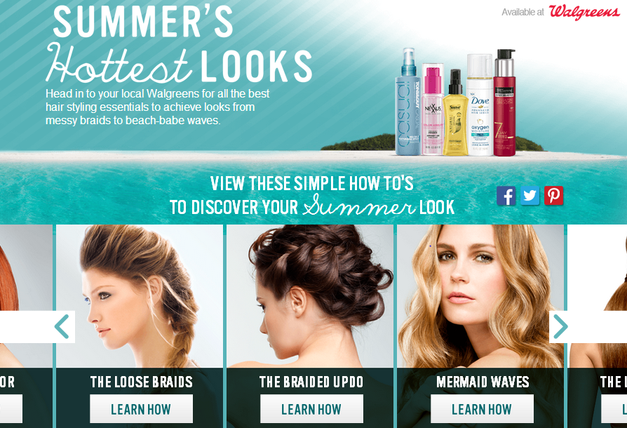 walgreens summer hot looks Walgreens: Buy One Get One 50% off Dove, Suave, Tresemme, Toni&Guy and Nexxus + Balance Rewards!