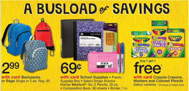 walgreens HOT! $2.99 Backpacks + $.69 School Supplies at Walgreens!