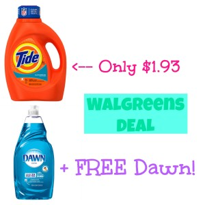 walgreensdeal2 300x300 HOT! Tide Detergent Only $1.93 + FREE Dawn Dish Soap at Walgreens!