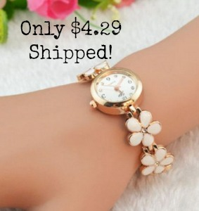 watch2 Flower Bracelet Watch only $4.29 Shipped!