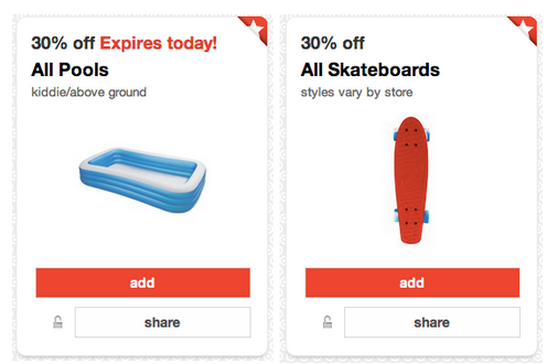 wheel Target Cartwheel: 30% Off Kiddie Above Ground Pools, Skateboards and more!!!