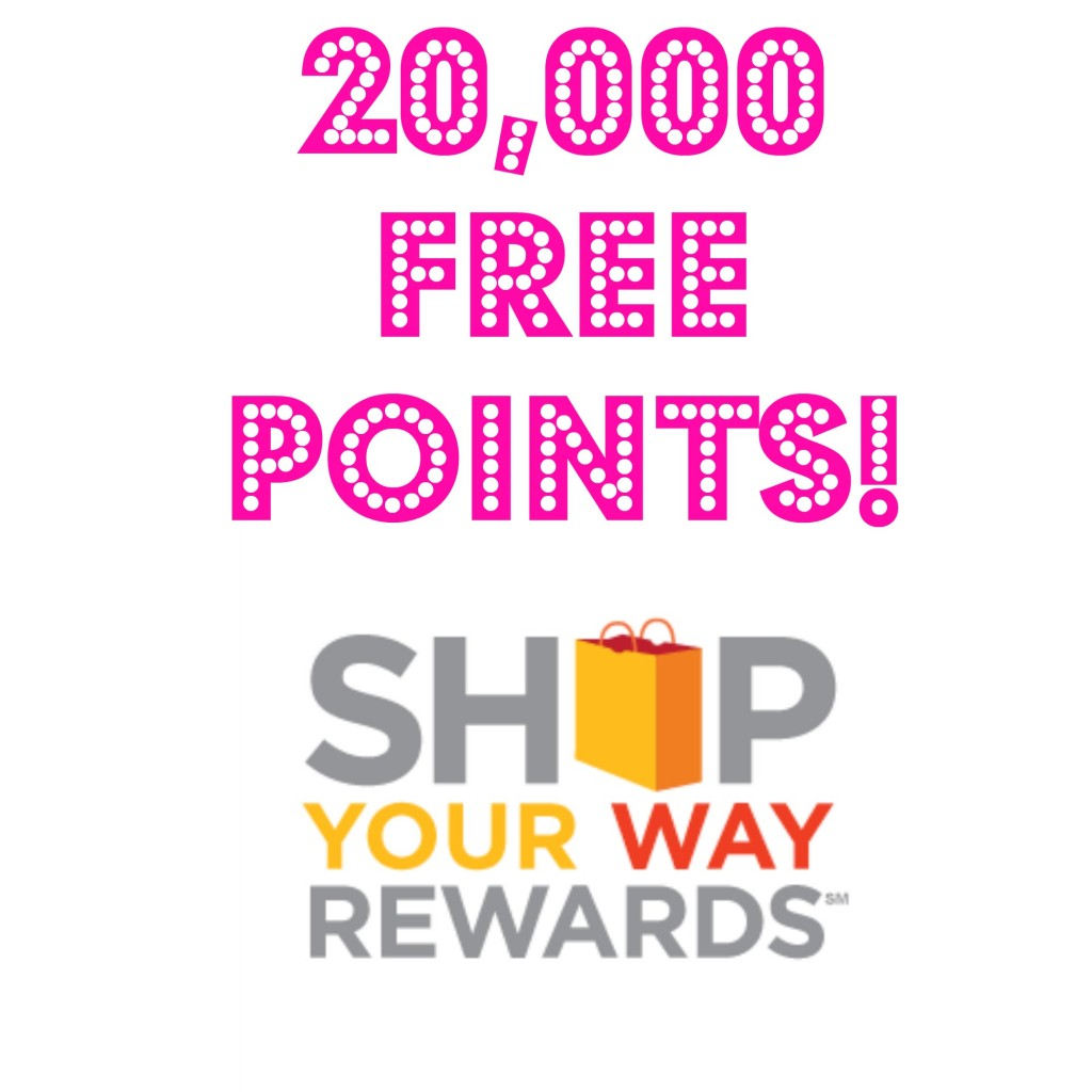 HOT! FREE 20,000 Shop Your Way Rewards Points, Free Stuff, Freebies, Rewards Points, Free Rewards Points, Free Points