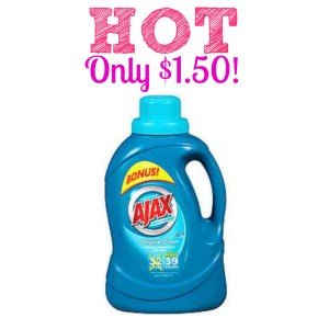 Ajax Coupons 300x300 HOT! Ajax Laundry Detergent Only $1.50!
