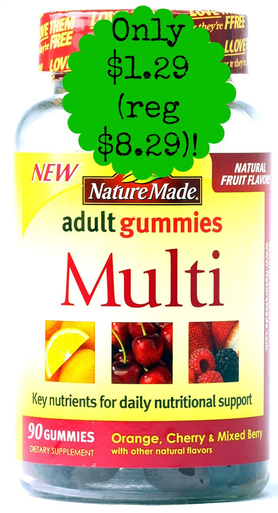 Nature Made Multi Adult Gummies Assorted Fruit 031604028411 Nature Made Adult Gummies only $1.29 at CVS, Starting 8/24!