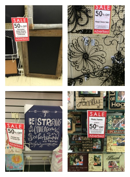 hobby lobby 50 off chalkboards metal decor photo frames and more