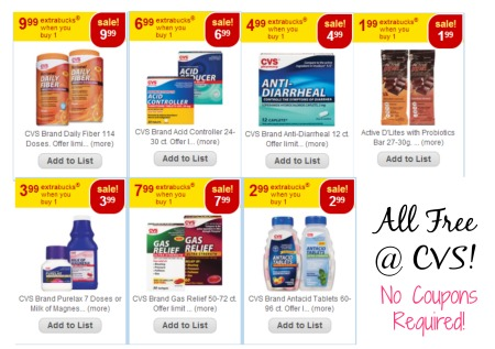 Untitled FREE CVS Brand Stomach Relief Items  Gas Relief, Acid Controller, Probiotics, Daily Fiber, and More! No Coupons Required!