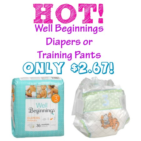Well Beginnings Diapers 1024x512 e1407873999515 Walgreens Diapers and Training Pants as Low as $2.67 Per Jumbo Pack TODAY ONLY!