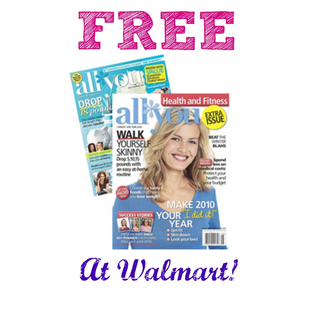 all you magazine subscription 1024x1024 HOT! FREE Issue of All You Magazine at Walmart!