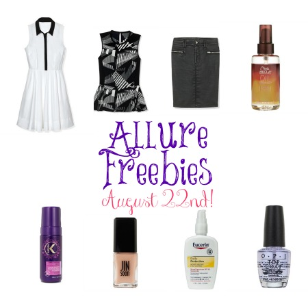 allure822 Allure Freebies 8/22  Armani Exchange, OPI, Eucerin, and More!