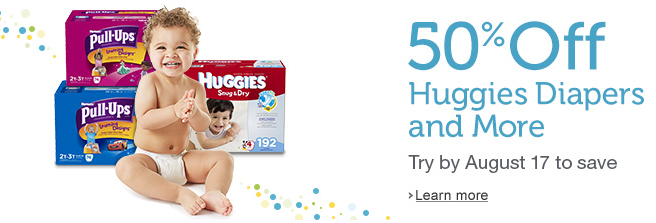 amazon mom 50% off Diapers for New Amazon Mom Members Plus HOT $4 off Huggies Coupon!
