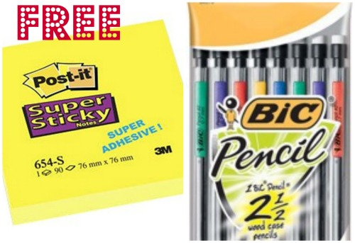 bic post collage Free Mechanical Pencils and Post It Notes at Target!