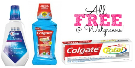 colgate 1 1 FREE Colgate Total Toothpaste and Mouthwash + Crest Rinse at Walgreens!
