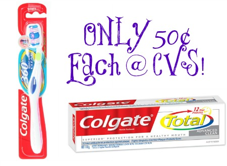 colgate1 Colgate Total Toothpaste and 360 Toothbrushes Only $.50 Each at CVS!