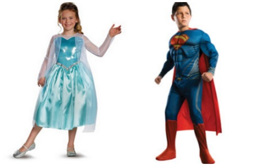 costume collage Disney Frozen, TMNT, Superman and more Costumes starting at just $16.97