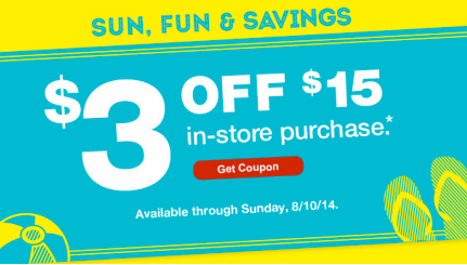 coupon1 CVS Emailed $3 Off $15 Purchase OR $4 Off $15 Purchase Store Coupon!