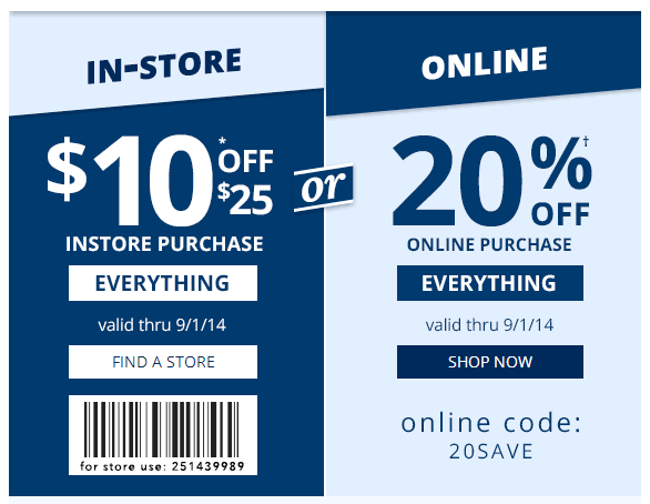 Payless: Save $10.00 off a $25.00 Purchase OR 20% Off Online! | Mojosavings.com