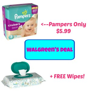 HOT! Pampers Jumbo Packs Only $5.99 at Walgreen's + FREE Wipes, Hot Diaper Deals, Pampers Coupons, DIapers Coupons, Hot Walgreens Deals