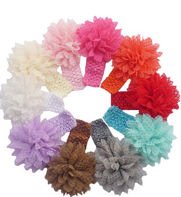 flower Flowered Baby Headbands only $5.88 Shipped!