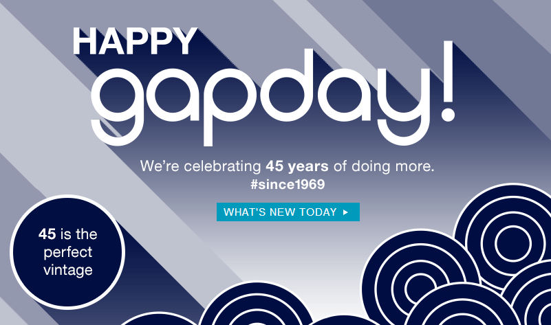 gapday Gap: $45 off $100 Purchase Today Only!