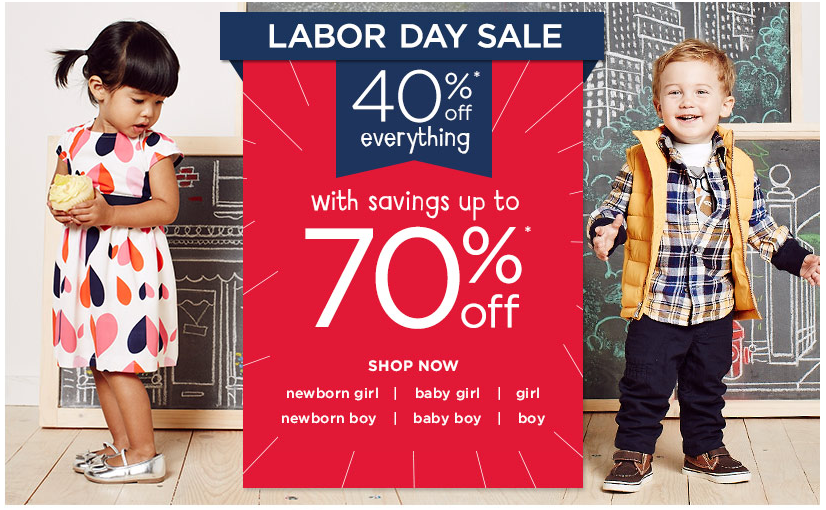 Gymboree: 40% Off Everything with Savings up to 70% Off, Hot Retail Deals, Clothing Sale, Labor Day Sales, Clearance Deals, Clothing Deals