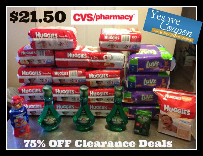 huggies1 HOT! 75% off Huggies, CVS Brand Diapers, Scope, Lansinoh Pads, Nyquil, and More!