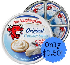 $0.50 (Reg $2.50) Laughing Cow...