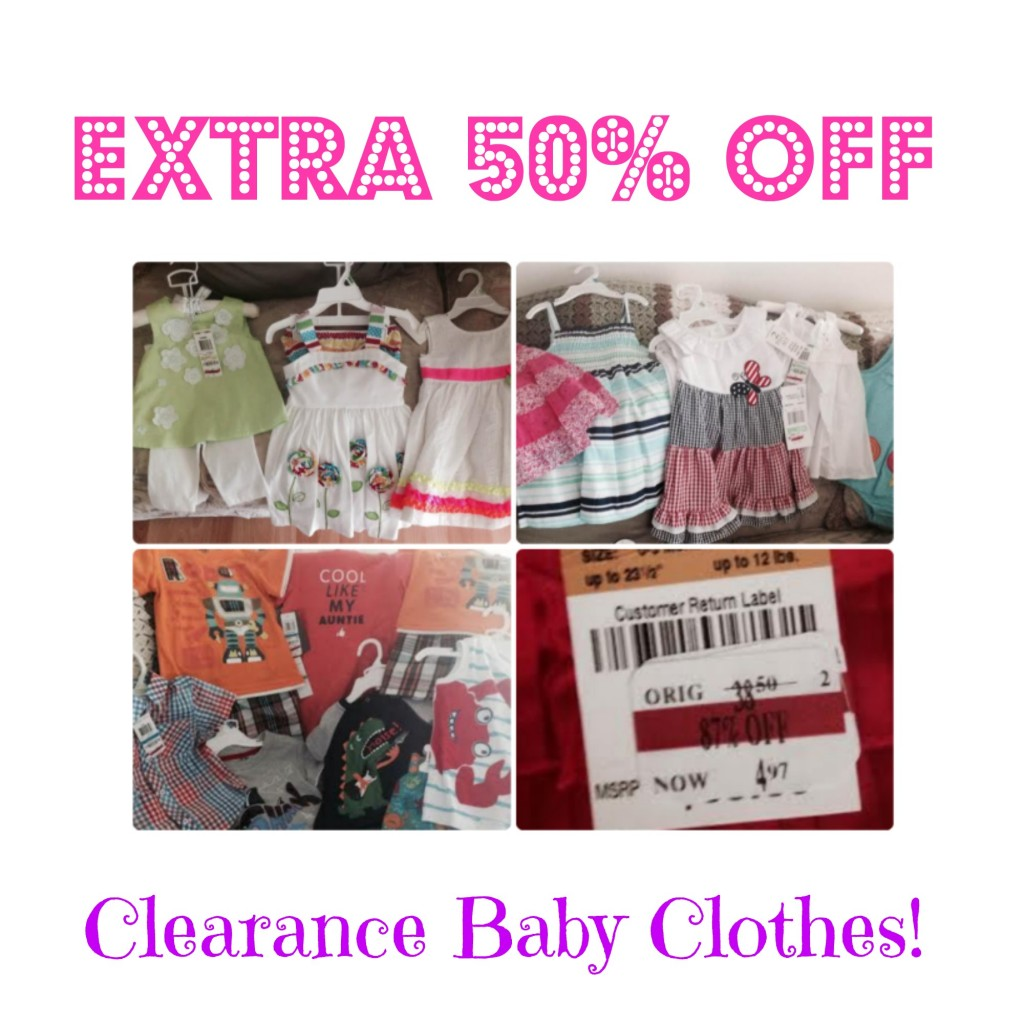 HOT! Extra 50% Off Clearance Baby Clothing at Macy's, Baby Clearance, Retail Clearance Deals, Macy's Clearance, Hot Clearance Deals, Cheap Baby Clothes