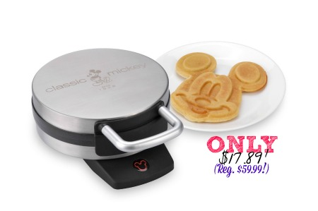 mickeywaffle Disney Classic Mickey Waffle Maker Only $17.89! (Reg. $59.99!)
