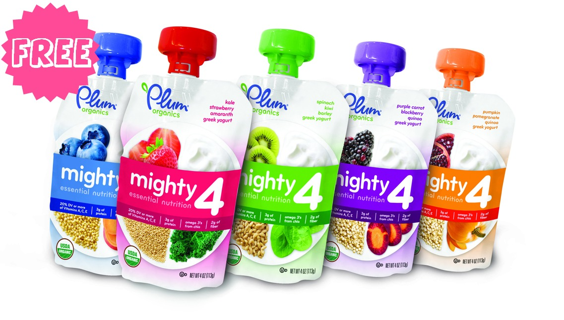 graphic about Plum Organics Printable Coupon known as Cost-free Plum Organics Kid Food stuff at Walmart!